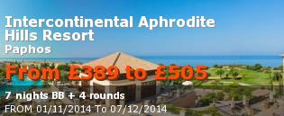 special offer Intercontinental Aphrodite Hills Resort Rest of Europe