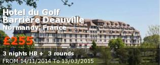special offer Hotel du Golf Barrière Deauville France