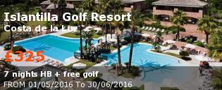 Golfing holidays Islantilla Golf Resort, Costa de la Luz Hotel View