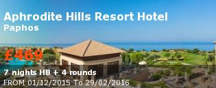 special offer Aphrodite Hills Resort Hotel Rest of Europe
