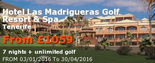 special offer Hotel Las Madrigueras Golf Resort & Spa Rest of Europe