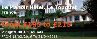 special offer Le Manoir Hôtel, Le Touquet France