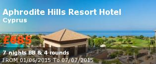 Golf holidays Cyprus: Intercontinental Aphrodite Hills Resort pool view