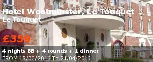 special offer Hotel Westminster, Le Touquet France