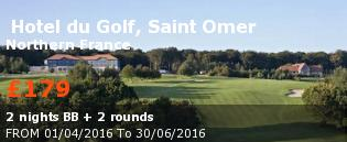 special offer  Hotel du Golf, Saint Omer France