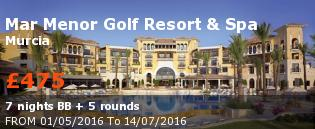 special offer Mar Menor Golf Resort & Spa Rest of Europe