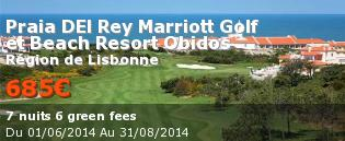 Voyage de golf Portugal, LisbonnePraia Rey Marriott Golf