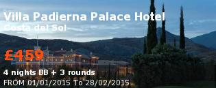 special offer Villa Padierna Palace Hotel Rest of Europe