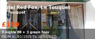 special offer Hotel Red Fox, Le Touquet France