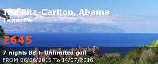special offer The Ritz-Carlton, Abama Rest of Europe