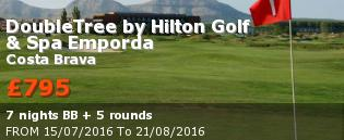 special offer DoubleTree by Hilton Golf & Spa Emporda Rest of Europe