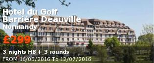 Golf holidays France:  Golfing breaks Hotel du Golf Deauville